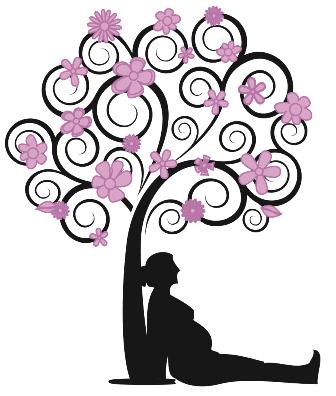 Immagine albero con donna web piccola